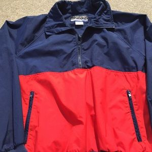 Vintage 90s Color-Block Pullover Windbreaker